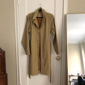 Rains khaki trench raincoat